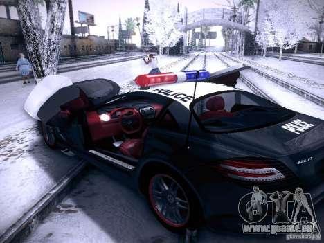 Mercedes-Benz SRL 722 Police für GTA San Andreas Rückansicht