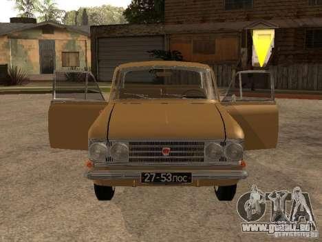 Moskvitch 408 Elite pour GTA San Andreas vue arrière