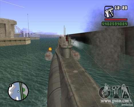 U99 German Submarine für GTA San Andreas achten Screenshot