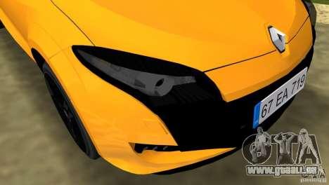 Renault Megane 3 Sport pour GTA Vice City vue latérale