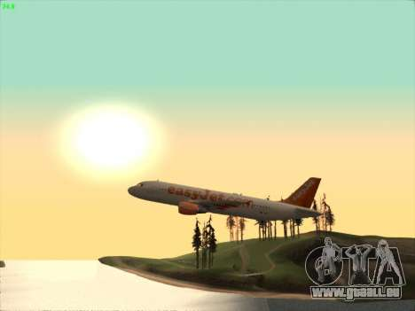 Airbus A320-214 EasyJet pour GTA San Andreas vue intérieure