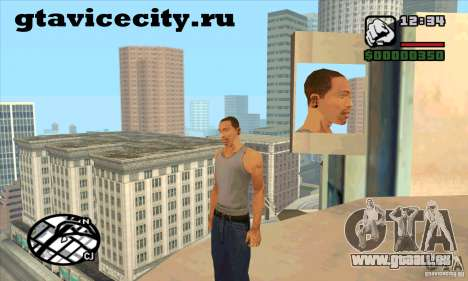 Piercing CJ mod + blanc pour GTA San Andreas deuxième écran