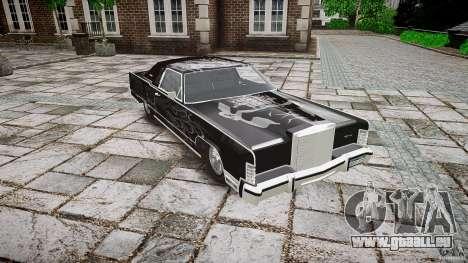 Lincoln Continental Town Coupe v1.0 1979 pour GTA 4 est une vue de l'intérieur