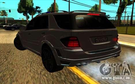 Mercedes-Benz ML63 AMG W165 Brabus pour GTA San Andreas vue de côté
