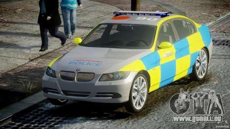 BMW 350i Indonesian Police Car [ELS] pour GTA 4 Vue arrière