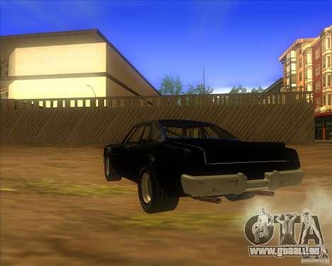 Jupiter Eagleray MK5 pour GTA San Andreas sur la vue arrière gauche