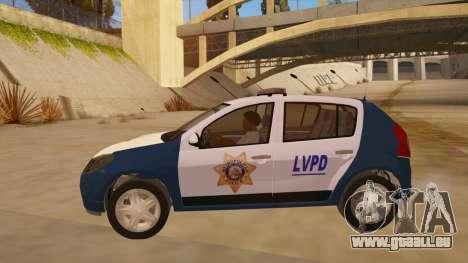 Renault Sandero Police LV pour GTA San Andreas laissé vue