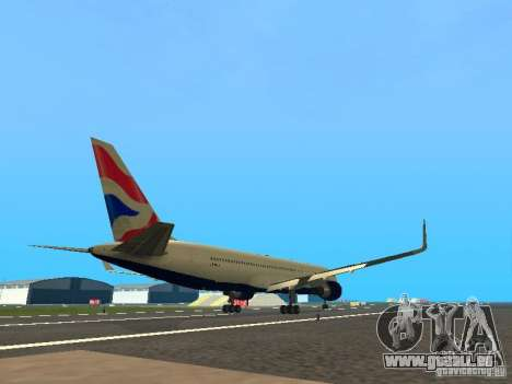 Boeing 767-300 British Airways für GTA San Andreas rechten Ansicht