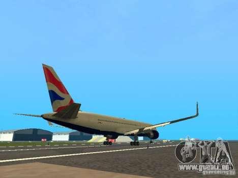 Boeing 767-300 British Airways für GTA San Andreas rechten Ansicht
