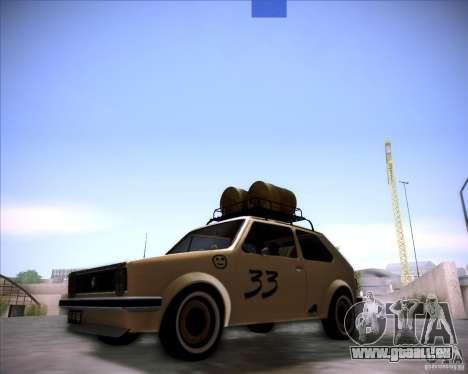 Volkswagen Golf MK1 rat style pour GTA San Andreas sur la vue arrière gauche