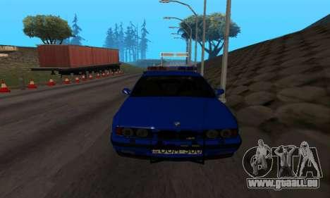 BMW M5 POLICE pour GTA San Andreas vue arrière