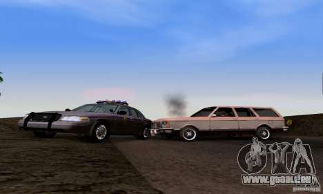 Ford Crown Victoria Mississippi Police pour GTA San Andreas vue arrière
