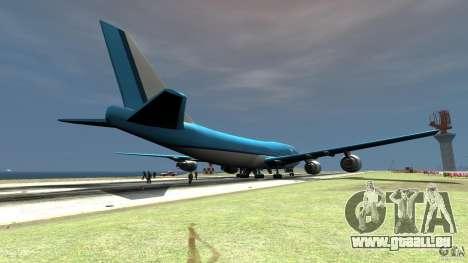 Real KLM Airplane Skin pour GTA 4 Vue arrière de la gauche