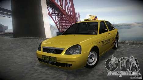 LADA Priora 2170 Taxi TMK Afterburner pour GTA San Andreas