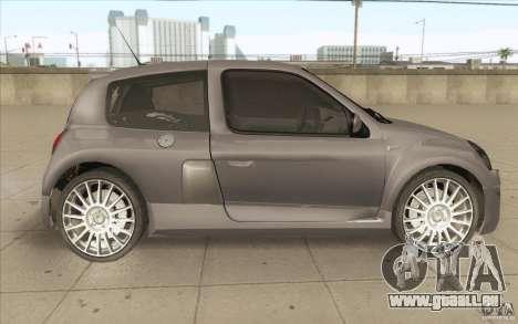 Renault Clio V6 pour GTA San Andreas vue intérieure
