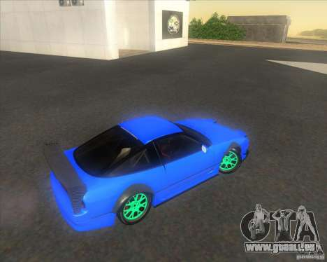 Nissan 240SX for drift pour GTA San Andreas vue intérieure