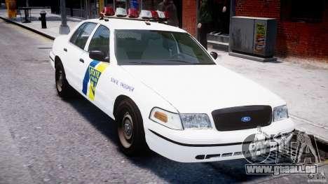 Ford Crown Victoria New Jersey State Police pour GTA 4 est une vue de dessous