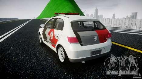 Volkswagen Gol G5 PMSP [ELS] pour GTA 4 Vue arrière de la gauche