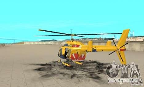 Der Sightseeing-Hubschrauber von Gta 4 für GTA San Andreas zurück linke Ansicht