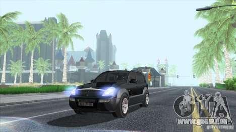 SsangYong Rexton 2005 pour GTA San Andreas vue de dessus