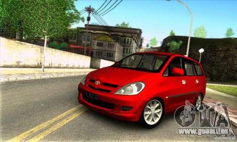 Toyota Kijang Innova 2.0 G für GTA San Andreas
