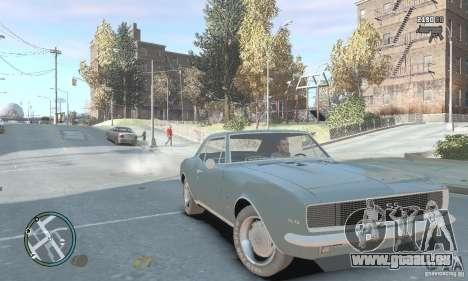 Chevrolet Camaro SS 1969 pour GTA 4 est un droit