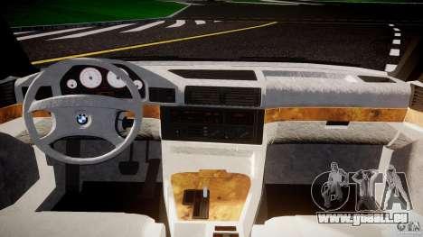 BMW 5 Series E34 540i 1994 v3.0 pour GTA 4 Vue arrière