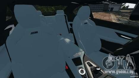 BMW M6 F13 2013 v1.0 für GTA 4 Innenansicht