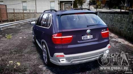 BMW X5 xDrive 4.8i 2009 v1.1 für GTA 4 hinten links Ansicht