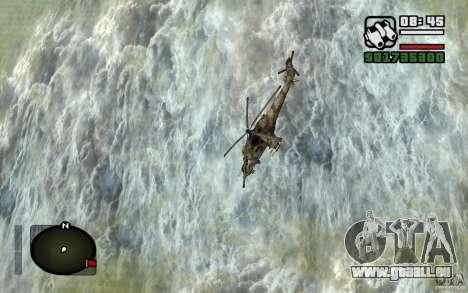 Mil Mi-24 für GTA San Andreas Innenansicht