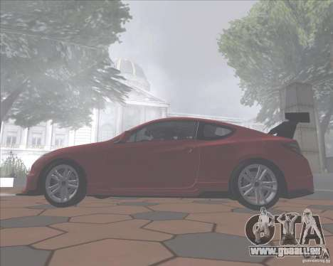 Hyundai Genesis Coupe für GTA San Andreas Rückansicht