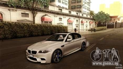 BMW M5 F10 2012 für GTA San Andreas Innenansicht
