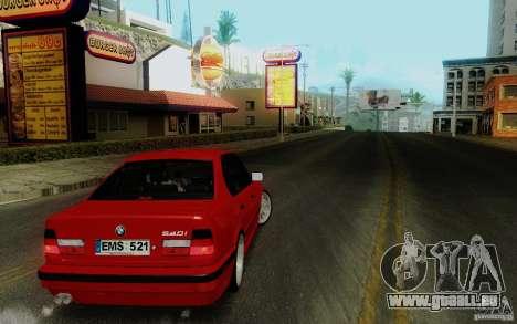 BMW E34 540i Tunable für GTA San Andreas rechten Ansicht
