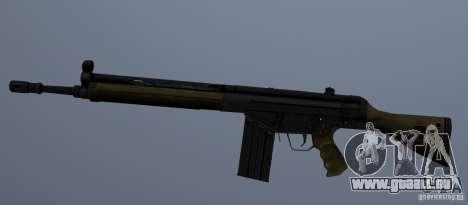Fusil d'assaut G3A3 pour GTA San Andreas deuxième écran