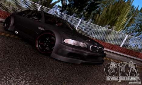 BMW M3 GTR v2.0 pour GTA San Andreas vue intérieure