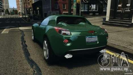 Pontiac Solstice 2009 pour GTA 4 Vue arrière de la gauche