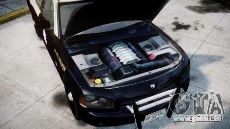Dodge Charger Florida Highway Patrol [ELS] pour GTA 4 Vue arrière