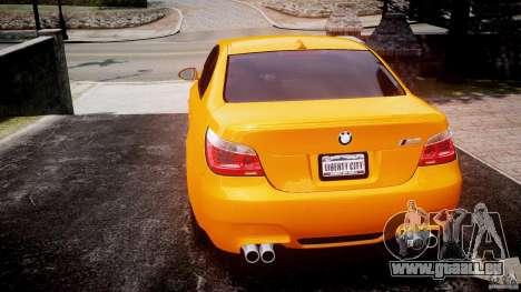 BMW M5 E60 pour GTA 4 Vue arrière de la gauche