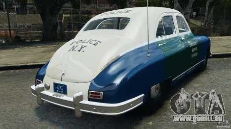 Packard Eight Police 1948 pour GTA 4 Vue arrière de la gauche