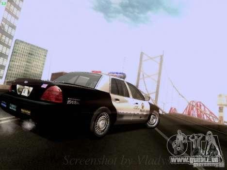 Ford Crown Victoria Los Angeles Police pour GTA San Andreas vue de droite