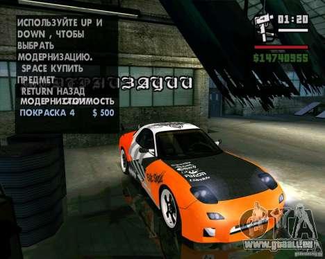 Mazda RX-7 WeaponWar für GTA San Andreas rechten Ansicht