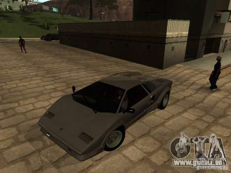 Lamborghini Countach 25th für GTA San Andreas linke Ansicht
