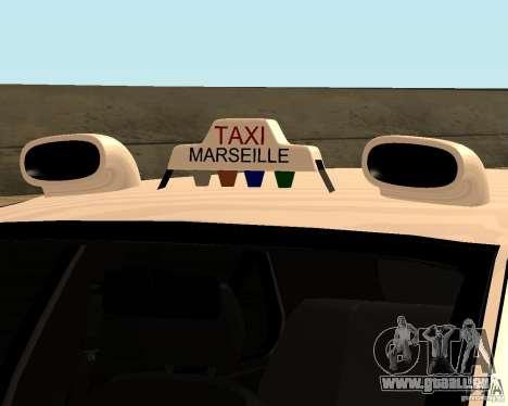 Peugeot 406 Taxi 2 für GTA San Andreas Rückansicht