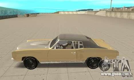 Chevy Monte Carlo [F&F3] pour GTA San Andreas laissé vue