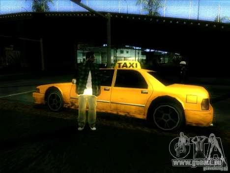 Sunrise Taxi pour GTA San Andreas vue de droite