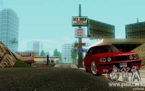 BMW E34 540i Tunable pour GTA San Andreas vue arrière