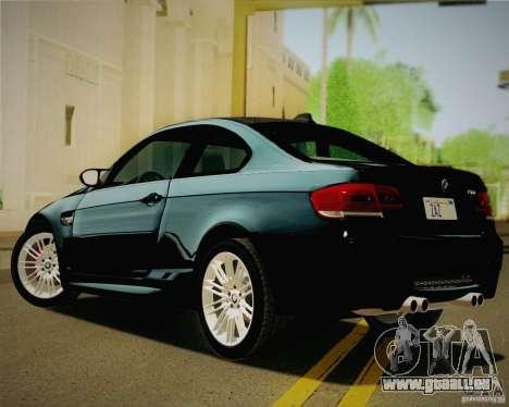 BMW M3 E92 v2.0 pour GTA San Andreas laissé vue