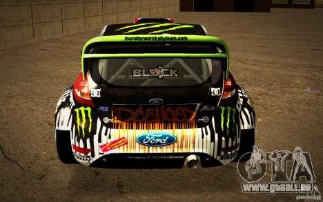 Ford Fiesta Gymkhana Four pour GTA San Andreas vue arrière