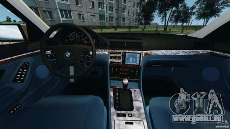 BMW 750iL E38 1998 pour GTA 4 Vue arrière