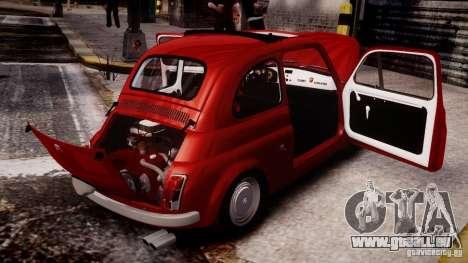 Fiat Abarth 595 SS 1968 pour GTA 4 Vue arrière de la gauche